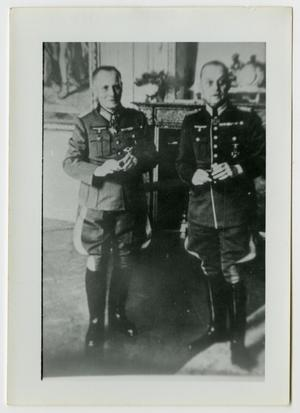 Primary view of object titled '[Photograph of German Officers]'.