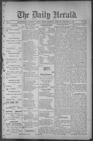 The Daily Herald (Brownsville, Tex.), Vol. 1, No. 184, Ed. 1, Thursday, February 2, 1893