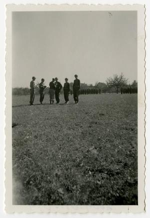 Primary view of object titled '[Photograph of Bronze Star Presentation]'.