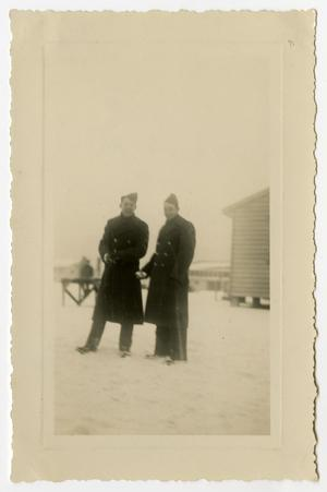 Primary view of object titled '[Photograph of Soldiers at Camp Campbell]'.