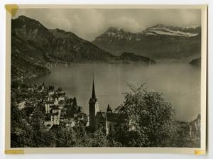 Primary view of object titled '[Photograph of Weggis, Switzerland]'.