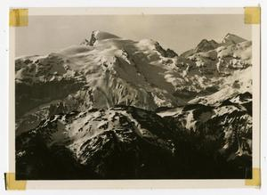 Primary view of object titled '[Photograph of Mounts Titlis and Sustenhorn]'.