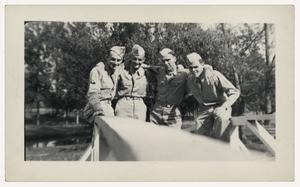 Primary view of object titled '[Photograph of Clarence Whitefield and Friends]'.