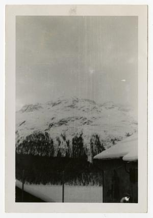 Primary view of object titled '[Photograph of Snowy Mountain]'.