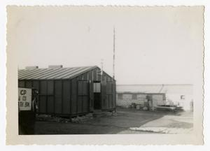 Primary view of object titled '[Photograph of Command Post and Building]'.