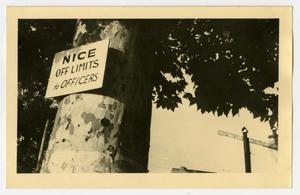 Primary view of object titled '[Postcard of Nice, France Sign]'.