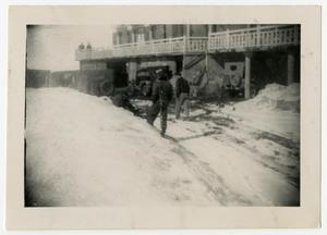 Primary view of object titled '[Photograph of Soldiers at Ski Resort]'.