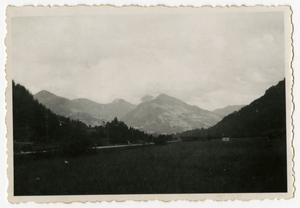 Primary view of object titled '[Photograph of Austrian Mountains and Road]'.