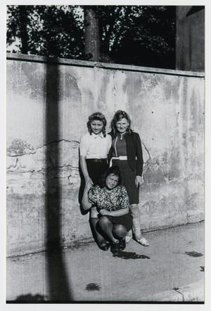 Primary view of object titled '[Photograph of European Girls in Heidenheim, Germany]'.