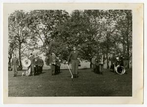 Primary view of object titled '[Photograph of 12th Armored Division Band]'.