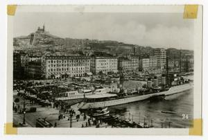 Primary view of object titled '[Photograph of Marseille Waterfront]'.