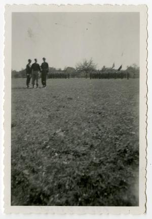 Primary view of object titled '[Photograph of Soldiers Shaking Hands]'.
