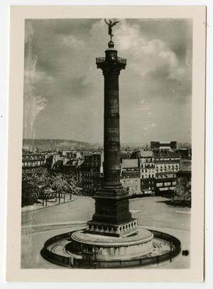 Primary view of object titled '[Photograph of Colonne de Juillet]'.
