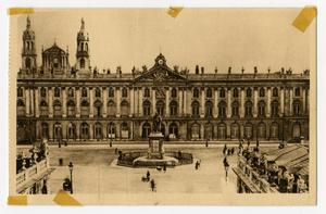 Primary view of object titled '[Postcard of Hôtel de Ville at Place Stanislas]'.
