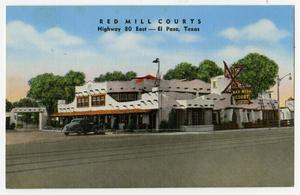 Primary view of object titled '[Red Mill Courts Postcard]'.