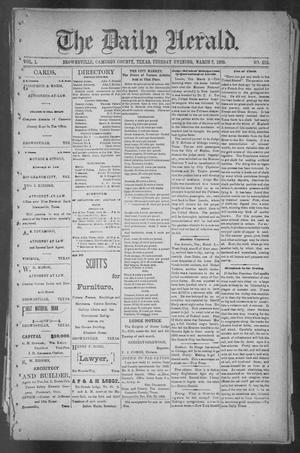 Primary view of object titled 'The Daily Herald (Brownsville, Tex.), Vol. 1, No. 212, Ed. 1, Tuesday, March 7, 1893'.