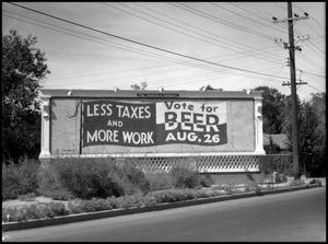 Primary view of object titled '[Beer Billboard]'.