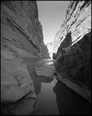 Primary view of object titled '[Santa Elena Canyon by Big Bend National Park]'.