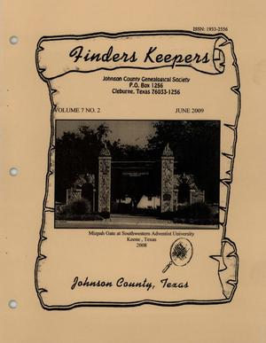 Primary view of object titled 'Finders Keepers, Volume 7, Number 2, June 2009'.