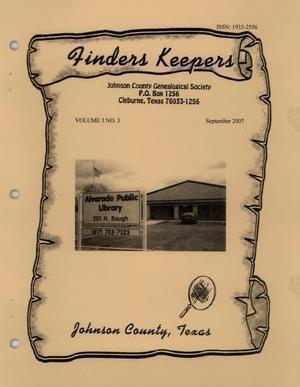 Finders Keepers, Volume 5, Number 3, September 2007