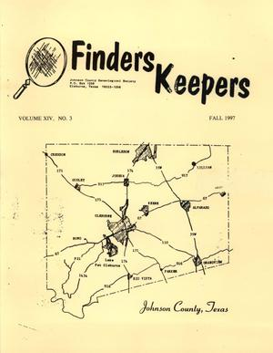 Primary view of object titled 'Finders Keepers, Volume 14, Number 3, Fall 1997'.