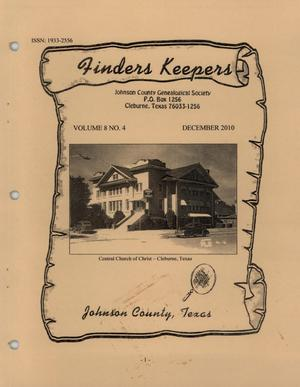 Finders Keepers, Volume 8, Number 4, December 2010