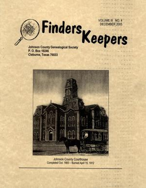 Finders Keepers, Volume 3, Number 4, December 2005
