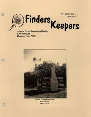 Finders Keepers, Volume 4, Number 1, March 2006