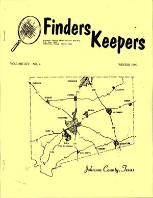 Finders Keepers, Volume 14, Number 4, Winter 1997