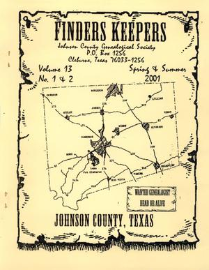 Finders Keepers, Volume 18, Numbers 1 and 2, Spring and Summer 2001