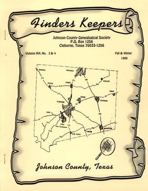 Finders Keepers, Volume 16, Numbers 3 and 4, Fall and Winter 1999