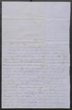 Primary view of [Letter from Alice M. Eanes to Lizzie Johnson, dated July 17, 1863]