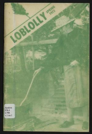 Loblolly, Volume 1, Number 1, Spring 1973