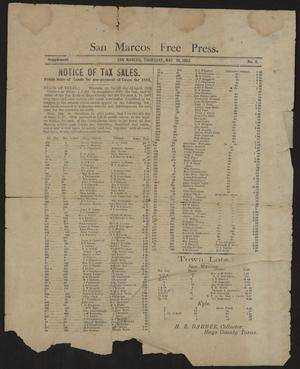 Primary view of object titled 'San Marcos Free Press. (San Marcos, Tex.), Vol. 11, No. 2, Ed. 2 Thursday, May 18, 1882'.