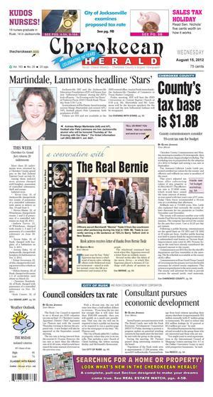 Cherokeean Herald (Rusk, Tex.), Vol. 163, No. 25, Ed. 1 Wednesday, August 15, 2012