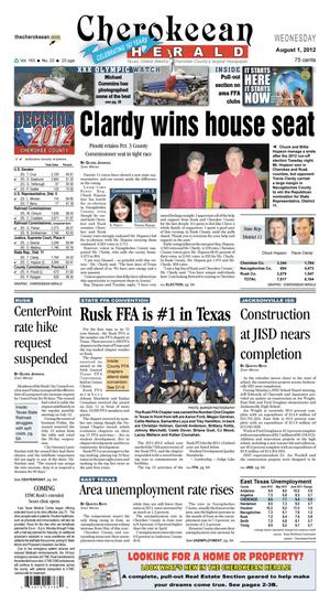 Cherokeean Herald (Rusk, Tex.), Vol. 163, No. 23, Ed. 1 Wednesday, August 1, 2012