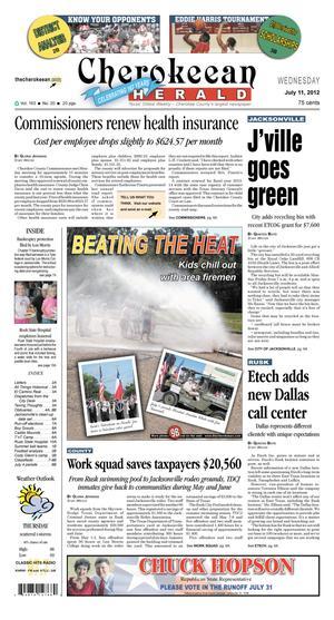Cherokeean Herald (Rusk, Tex.), Vol. 163, No. 20, Ed. 1 Wednesday, July 11, 2012