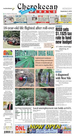 Cherokeean Herald (Rusk, Tex.), Vol. 163, No. 28, Ed. 1 Wednesday, September 5, 2012