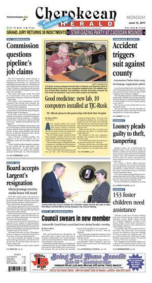 Cherokeean Herald (Rusk, Tex.), Vol. 163, No. 16, Ed. 1 Wednesday, June 13, 2012