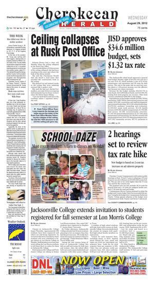 Cherokeean Herald (Rusk, Tex.), Vol. 163, No. 27, Ed. 1 Wednesday, August 29, 2012