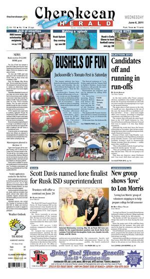 Cherokeean Herald (Rusk, Tex.), Vol. 163, No. 15, Ed. 1 Wednesday, June 6, 2012