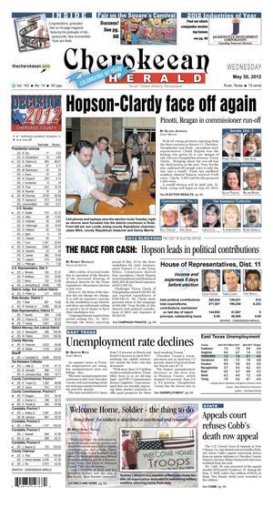 Cherokeean Herald (Rusk, Tex.), Vol. 163, No. 14, Ed. 1 Wednesday, May 30, 2012