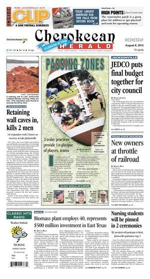 Cherokeean Herald (Rusk, Tex.), Vol. 163, No. 24, Ed. 1 Wednesday, August 8, 2012