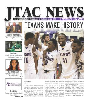 Primary view of JTAC News (Stephenville, Tex.), Ed. 1 Monday, February 10, 2014