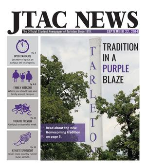 Primary view of object titled 'JTAC News (Stephenville, Tex.), Ed. 1 Monday, September 22, 2014'.