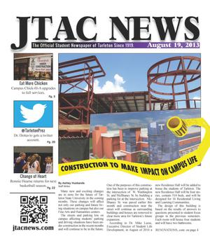 Primary view of object titled 'JTAC News (Stephenville, Tex.), Ed. 1 Monday, August 19, 2013'.