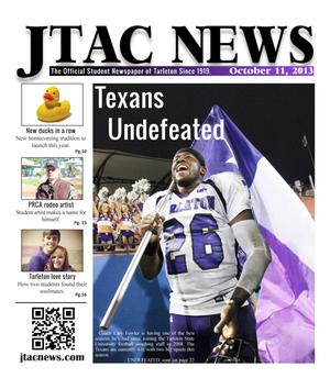 Primary view of object titled 'JTAC News (Stephenville, Tex.), Ed. 1 Friday, October 11, 2013'.