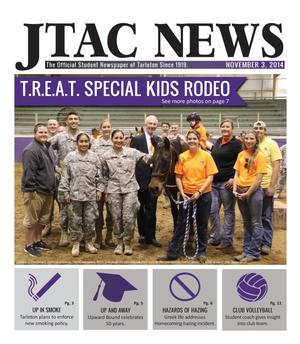 Primary view of object titled 'JTAC News (Stephenville, Tex.), Ed. 1 Monday, November 3, 2014'.