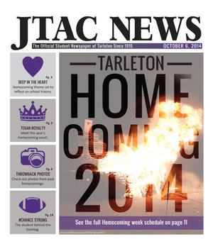 Primary view of object titled 'JTAC News (Stephenville, Tex.), Ed. 1 Monday, October 6, 2014'.