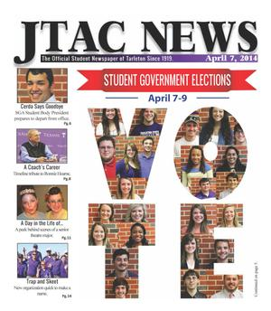 Primary view of JTAC News (Stephenville, Tex.), Ed. 1 Monday, April 7, 2014